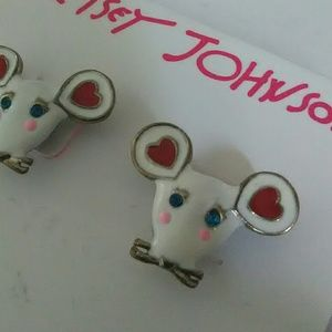 Valentine mouse Betsey Johnson earrings